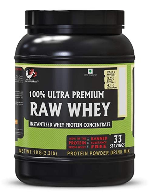 Advance Musclemass 100% Raw Whey Protein Supplement Powder  best protein powder in india
