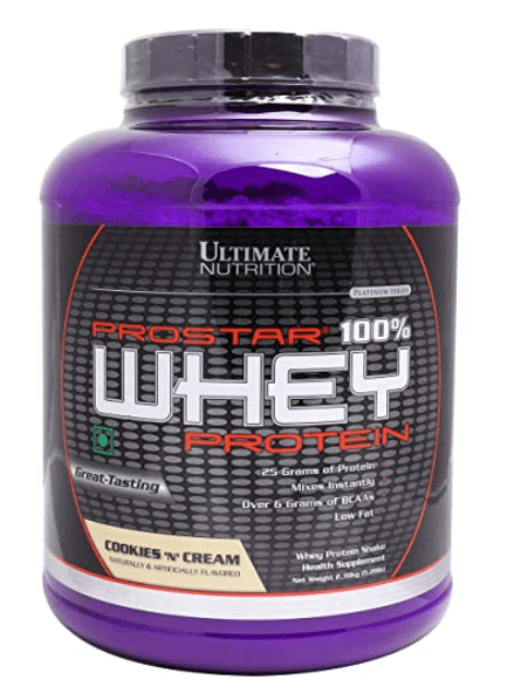 Ultimate Nutrition Prostar Cookies and Cream Whey Protein Isolate Powder