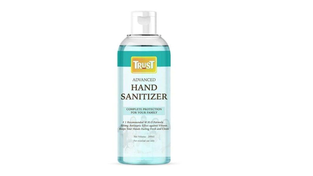 Trust ethyl alcohol bases hand sanitizer