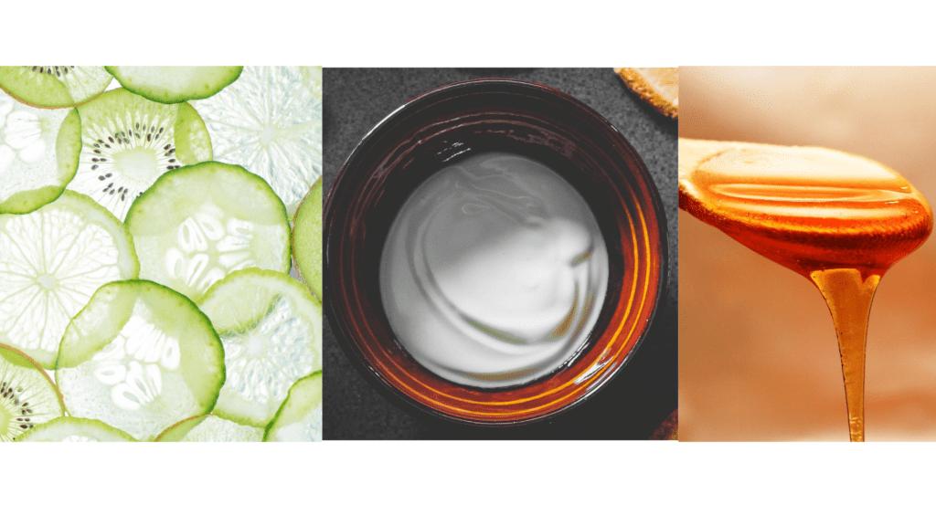 Cucumber+curd+honey mixture a homemade skin toner for glowing skin