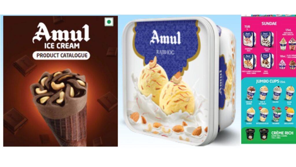Amul ice cream the top ice cream brand in india