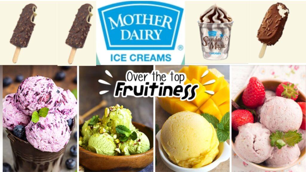 mother dairy ice cream is very tasty