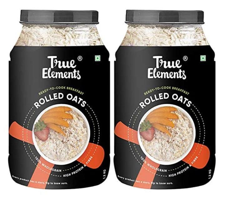 True Elements Gluten Free Rolled Oats, the best oats in India