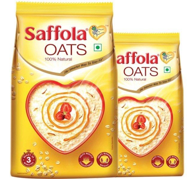 Saffola plain oats