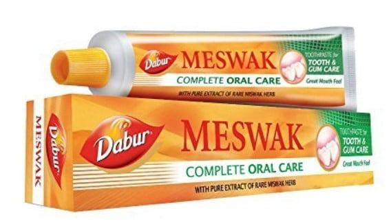 Dabur Meswak toothpaste. Best ayurvedic toothpaste.