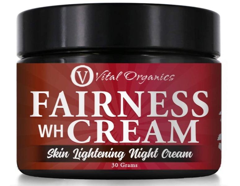 Vital organics skin whitening cream