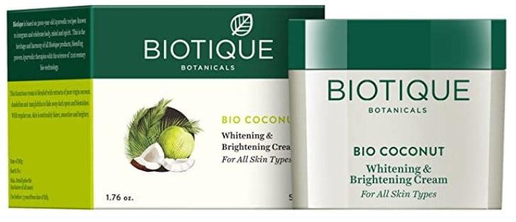 Biotique Bio Coconut Whitening and Brightening Cream for All Skin Types