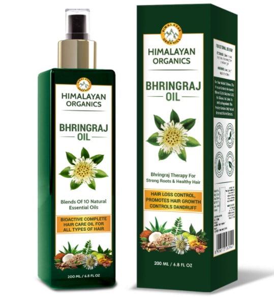 himalayan organics bhringraj oil for hair growth