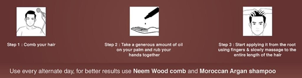 how to use the men company hair growth oil