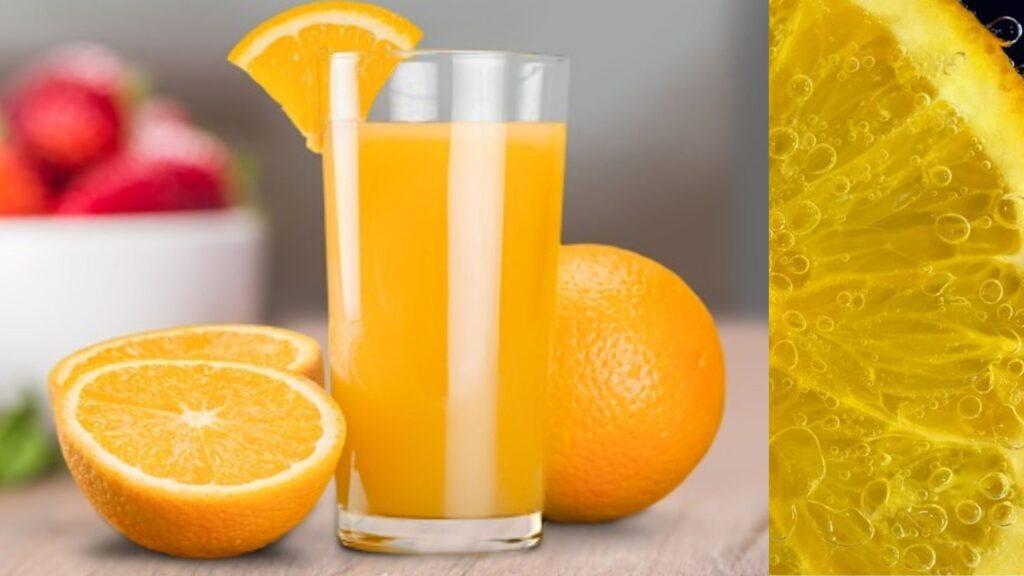 Orange juice cool drink for summer