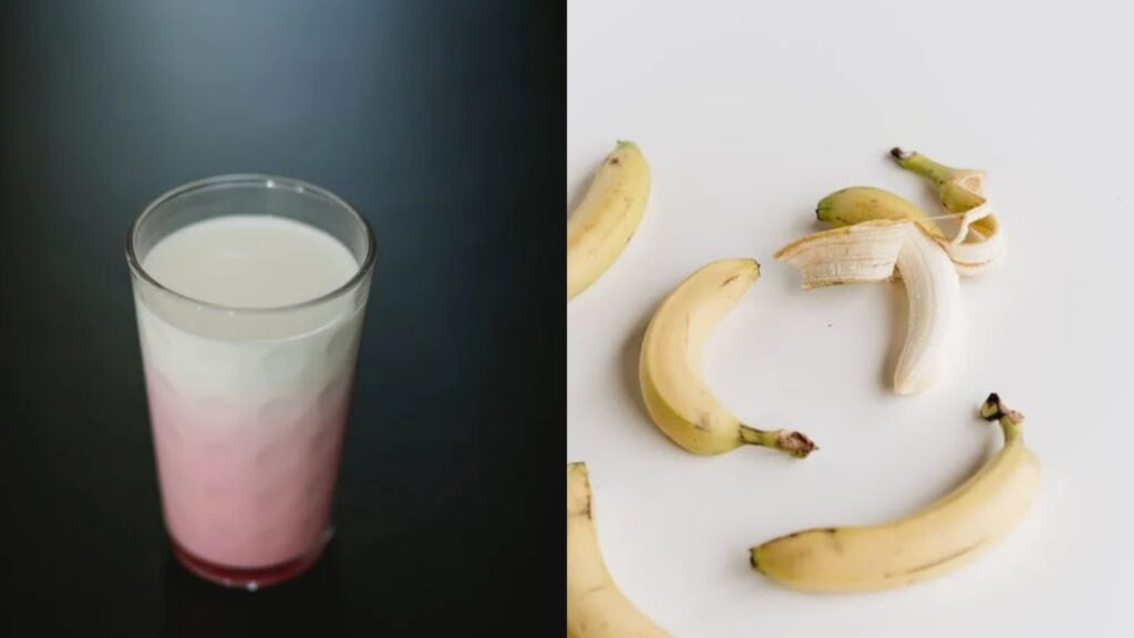 Protein shake and banana is one of the best healthy evening snacks