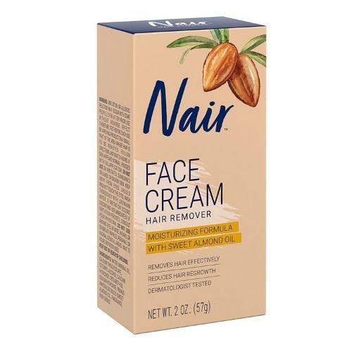 Facial hair removal cream from Nair brand