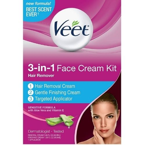most popular facial hair removal cream from veet