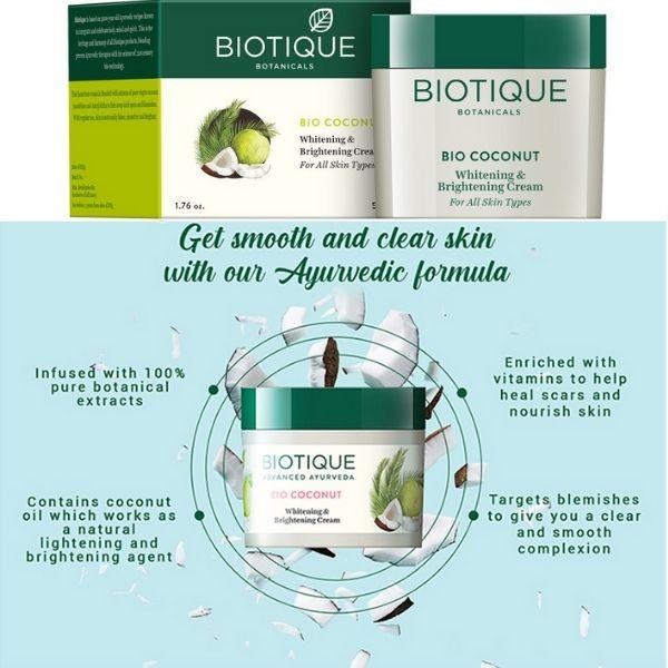 Natural skin lightening cream from biotique