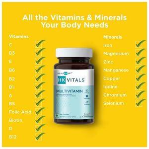 vitamins and minerals present in HealthKart basic men multivitamin